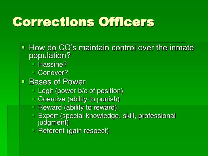 Corrections Officers