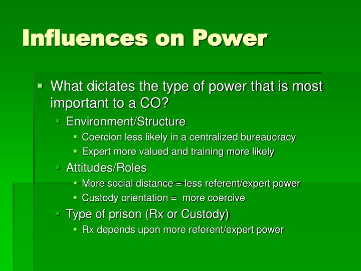Influences on Power