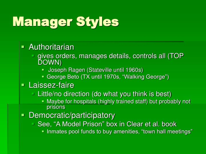 Manager Styles