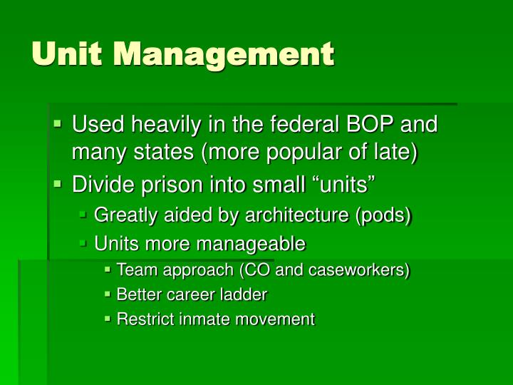 Unit Management
