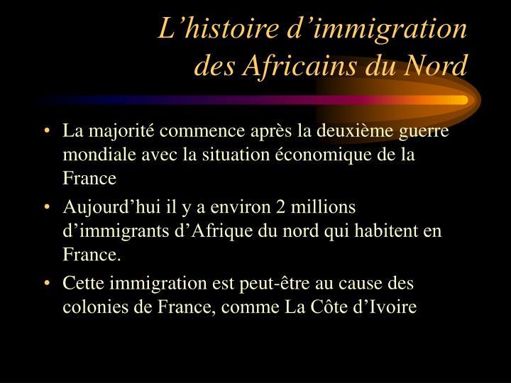 L'histoire d'immigration