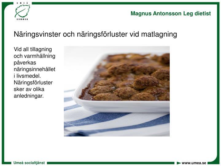 Näringsvinster och näringsförluster vid matlagning