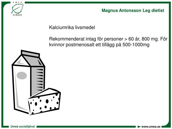 Kalciumrika livsmedel