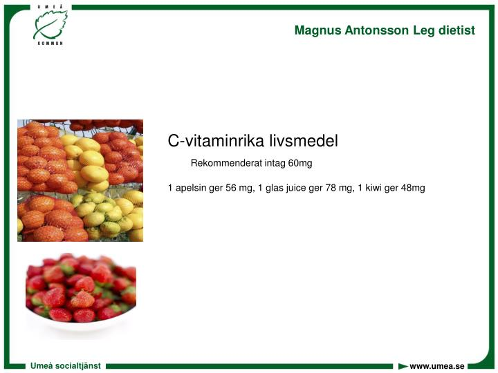 C-vitaminrika livsmedel