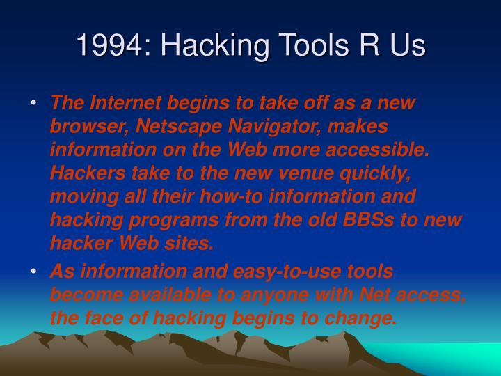 1994: Hacking Tools R Us