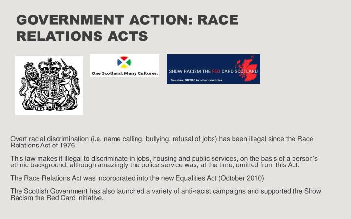 Government Action: Race Relations Acts
