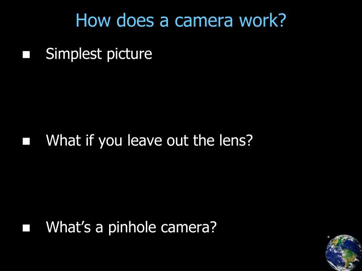 How does a camera work?