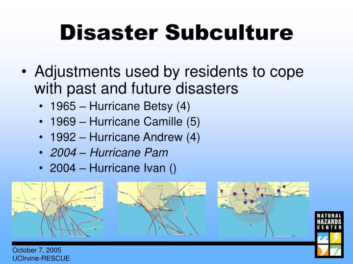 Disaster Subculture