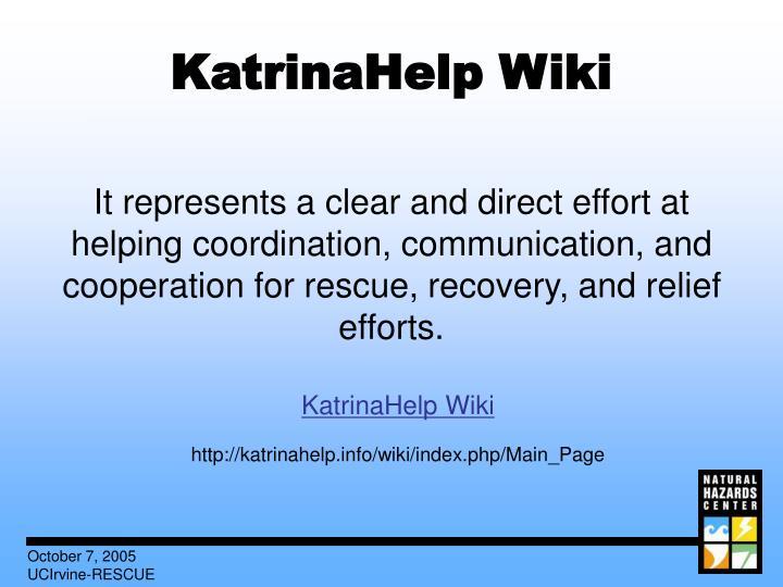 KatrinaHelp Wiki