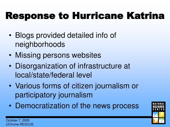 Response to Hurricane Katrina