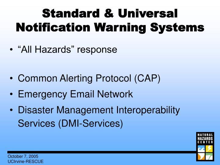 Standard & Universal