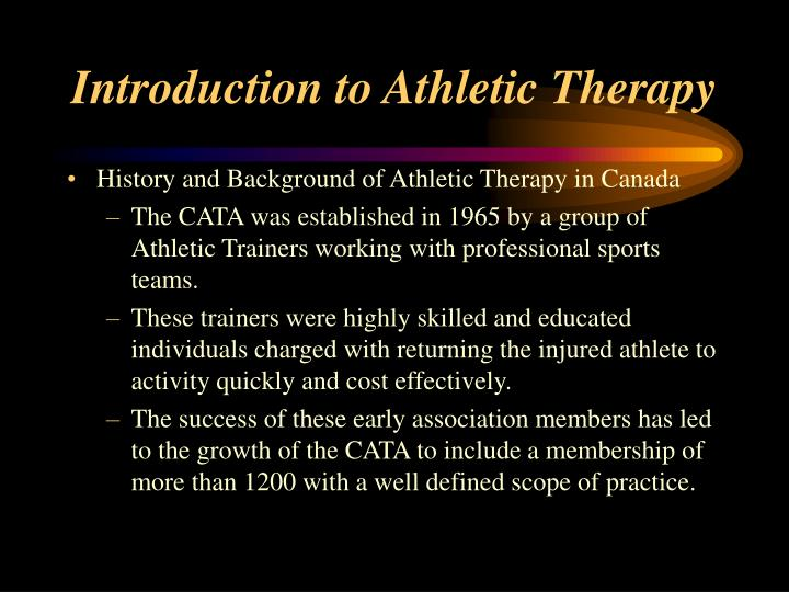 Introduction to Athletic Therapy