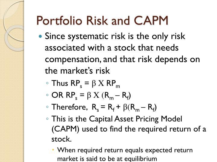 Portfolio Risk and CAPM