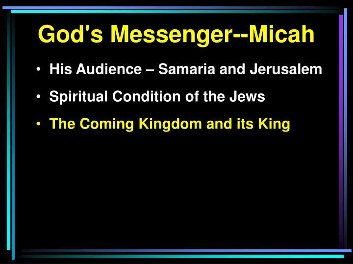 God's Messenger--Micah
