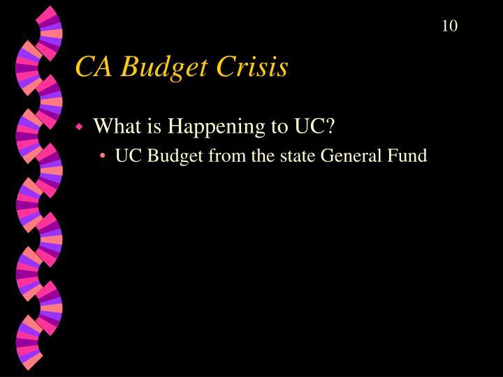 CA Budget Crisis