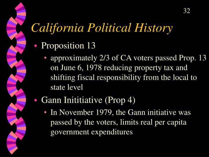 California Political History