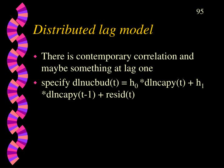 Distributed lag model