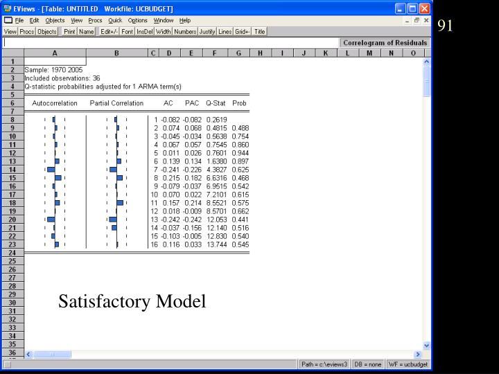 Satisfactory Model