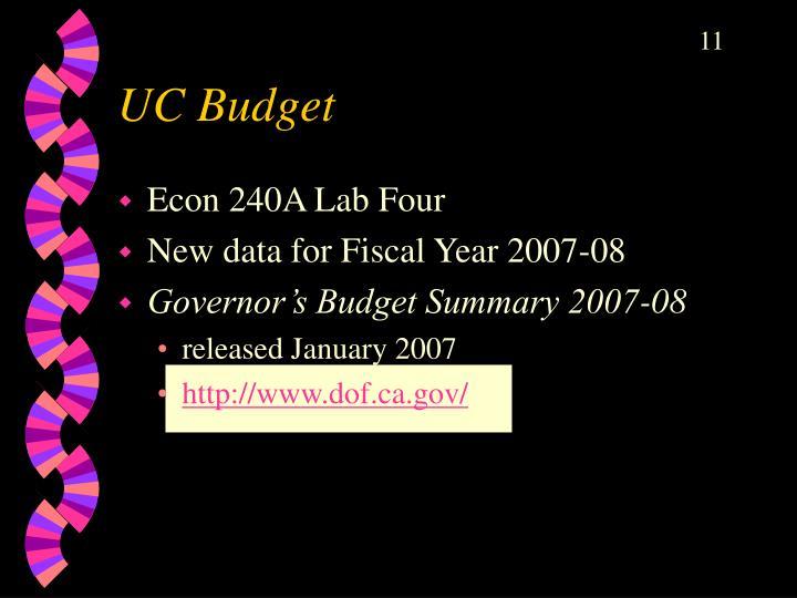 UC Budget