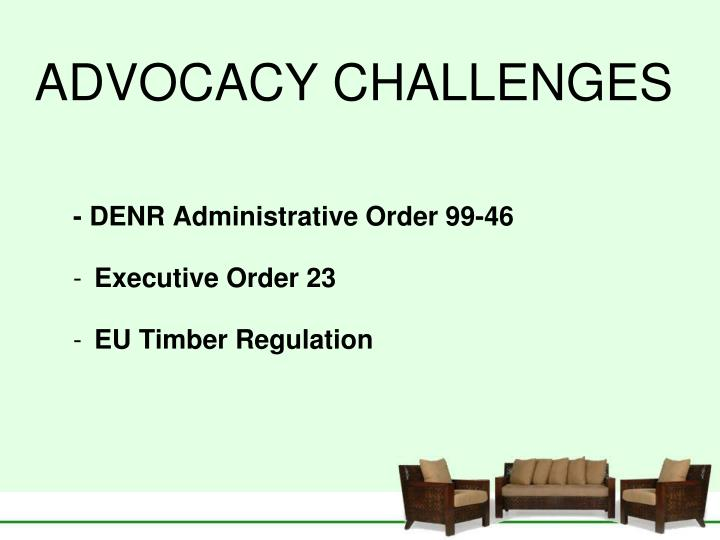 ADVOCACY CHALLENGES