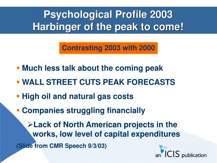 Psychological Profile 2003