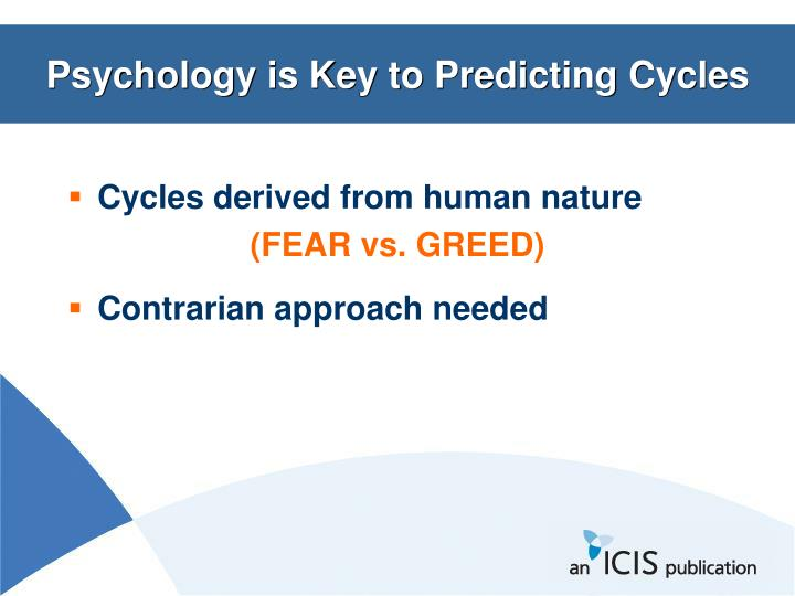 Psychology is Key to Predicting Cycles