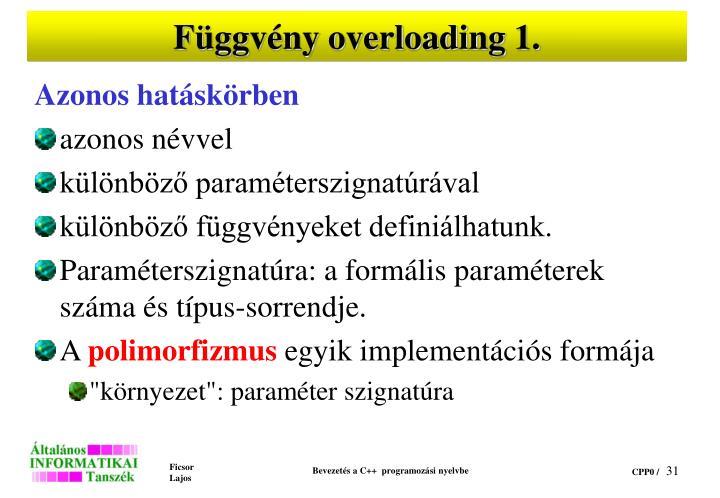 Függvény overloading