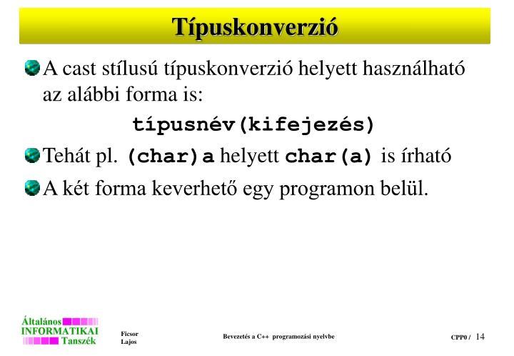 Típuskonverzió