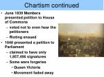 chartism continued
