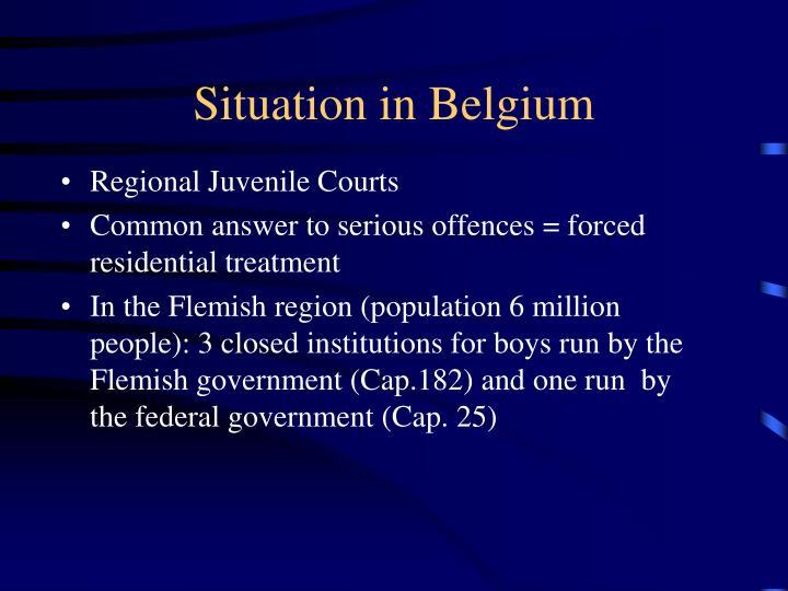 Situation in Belgium
