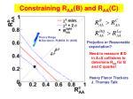 constraining r aa b and r aa c