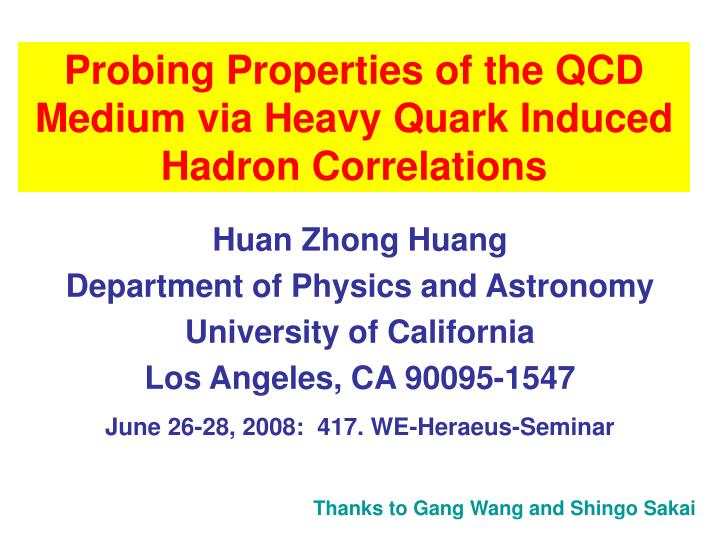 Probing properties of the qcd medium via heavy quark induced hadron correlations