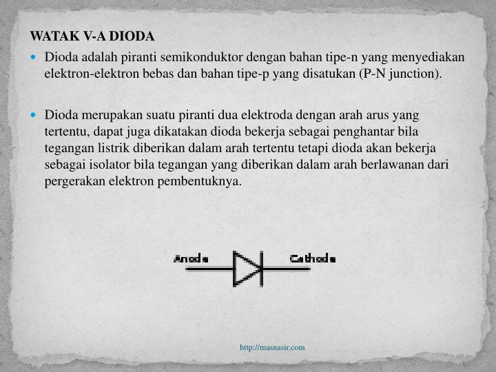 WATAK V-A DIODA