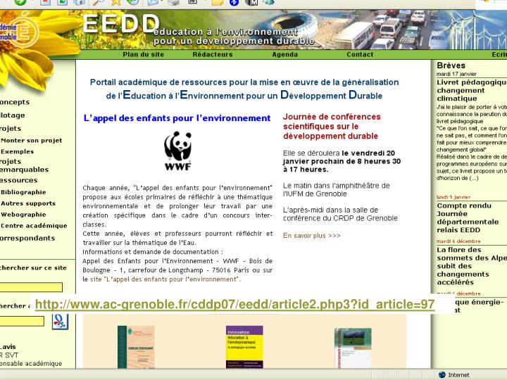 http://www.ac-grenoble.fr/cddp07/eedd/article2.php3?id_article=97
