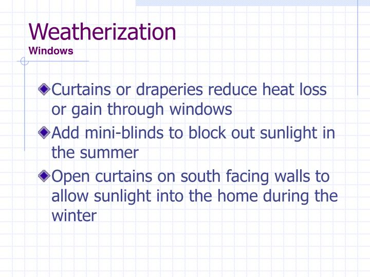 Weatherization