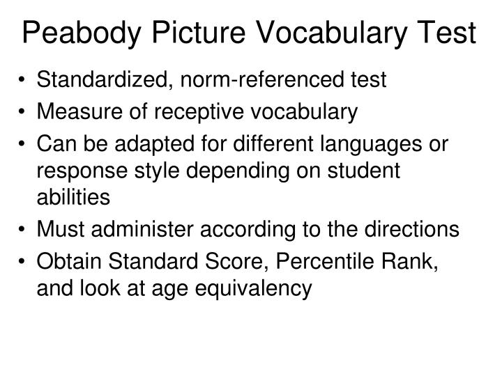 Peabody Picture Vocabulary Test
