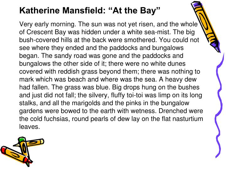 "Katherine Mansfield: ""At the Bay"""
