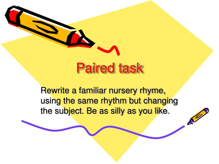 Paired task