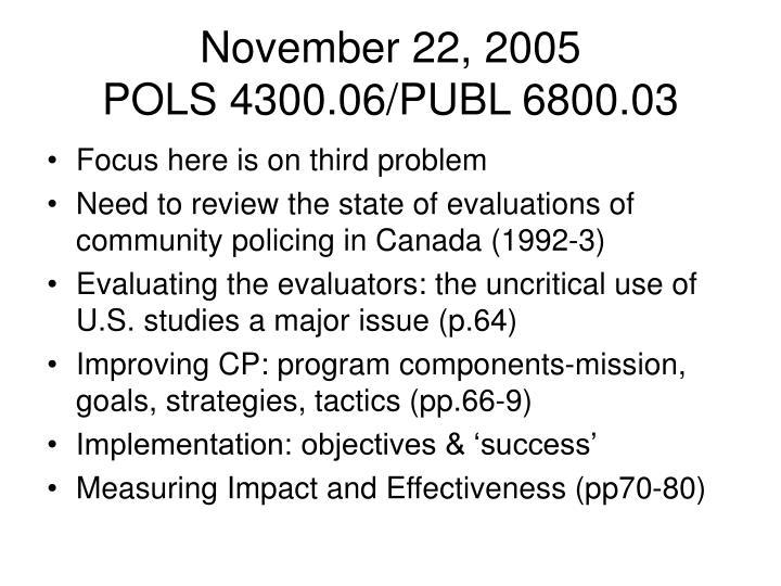 November 22, 2005