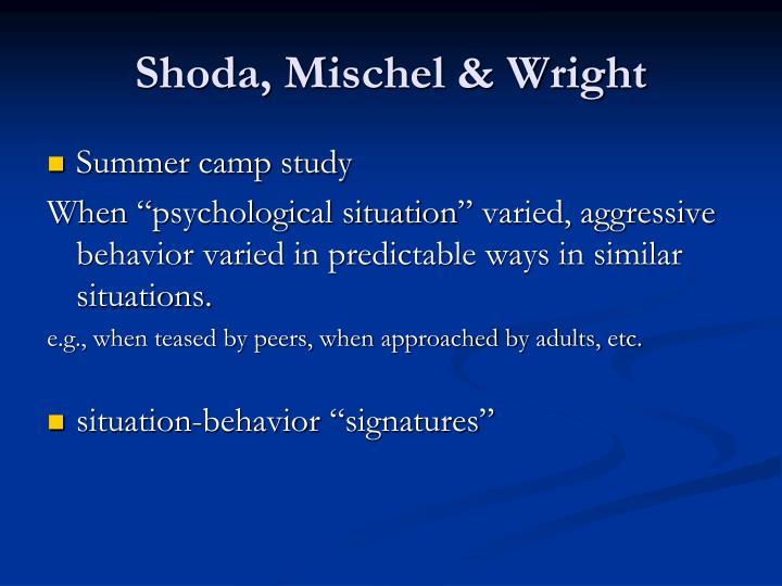 Shoda, Mischel & Wright