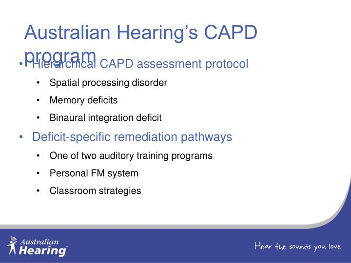 Australian Hearing's CAPD program