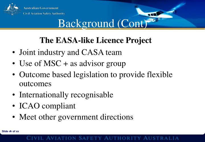 Joint industry and CASA team