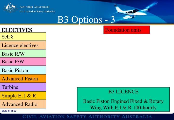 B3 Options - 3