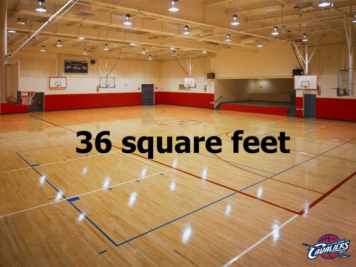 36 square feet