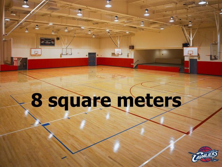 8 square meters