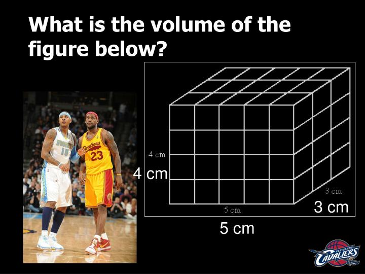 What is the volume of the figure below?