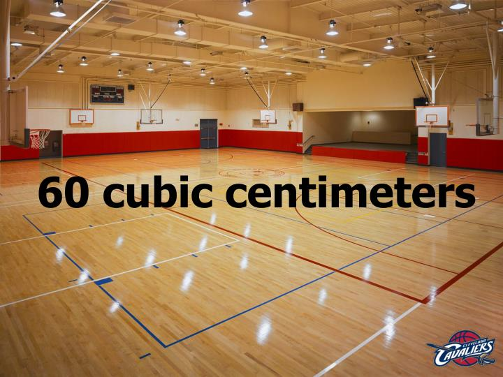 60 cubic centimeters