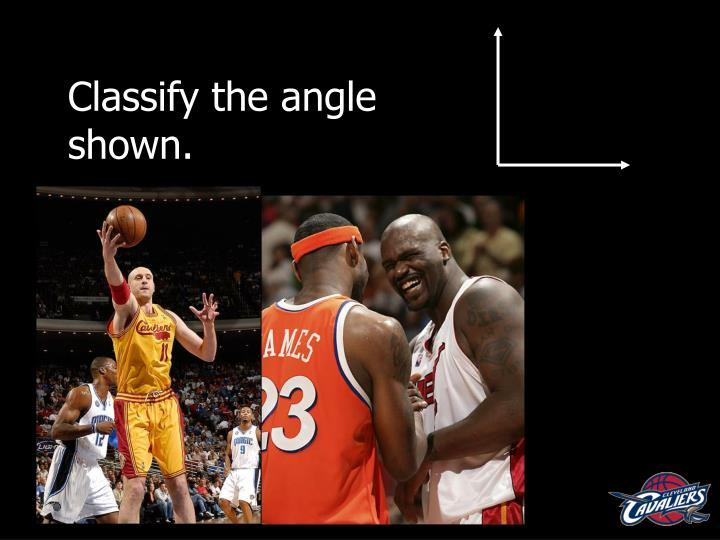 Classify the angle shown.