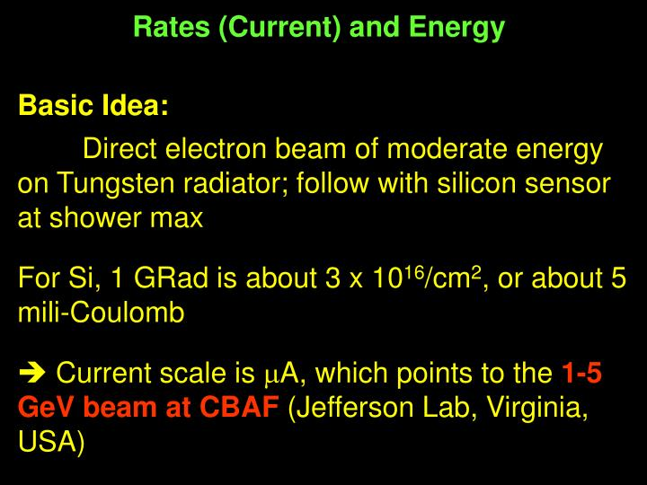 Rates (Current) and Energy