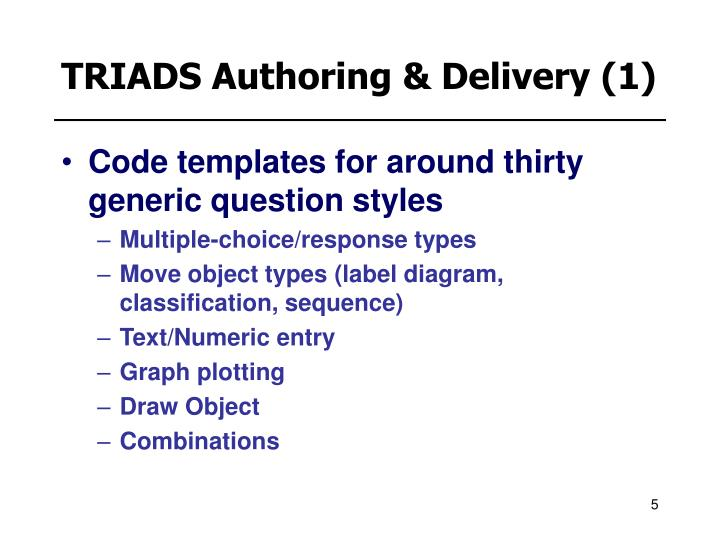 TRIADS Authoring & Delivery (1)